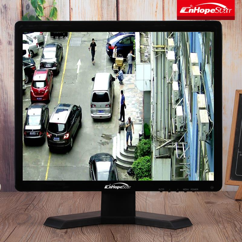 Factory 17 inch lcd cctv monitor with bnc input