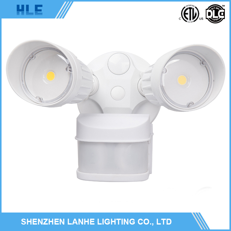 dual head infrared sensor ip65 outdoor led wallpack led security light