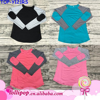 2017 Newest Baby Adult Sweatshirt Top Design Best Selling Affordable Raglan With Special Patch Pretty Blouse Boutique
