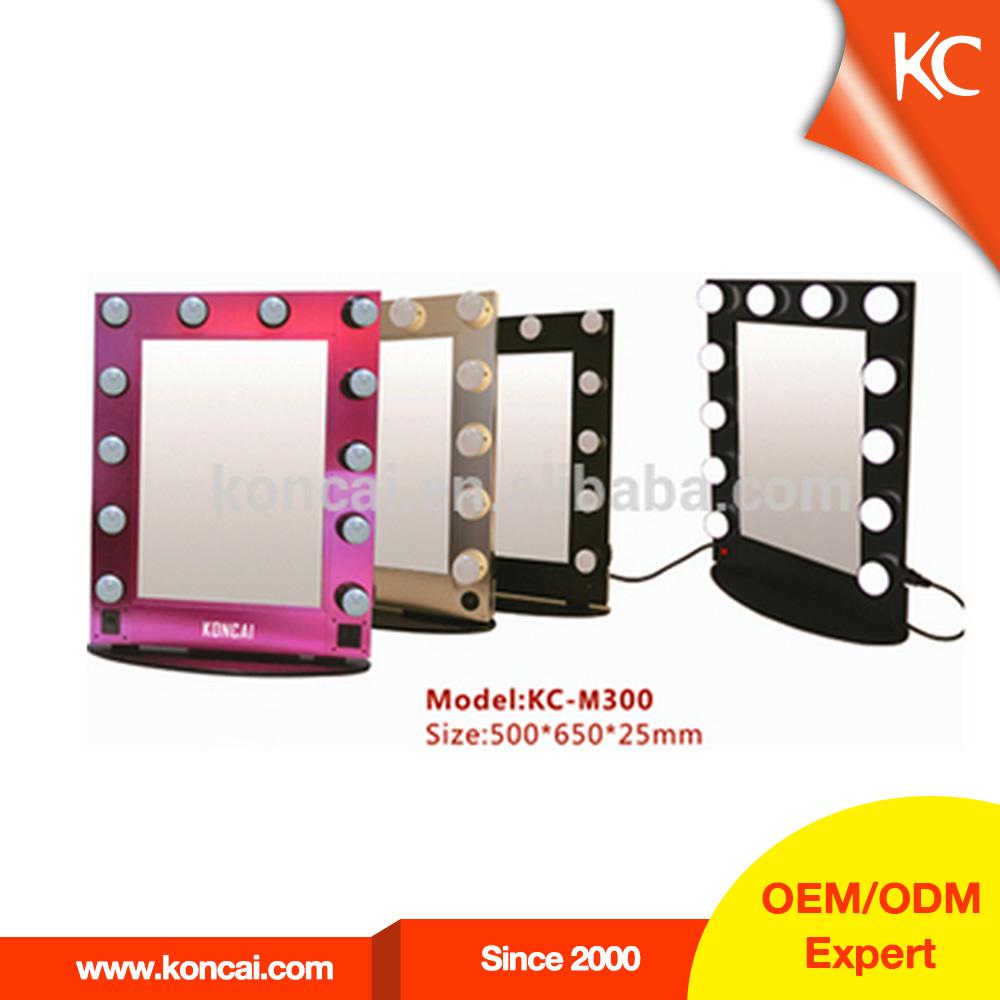 en gros pas cher vanit maquillage miroir avec la lumi re m tal cadre miroir avec la lumi re. Black Bedroom Furniture Sets. Home Design Ideas