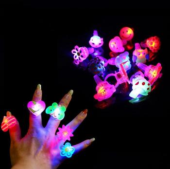 Flashing Jelly LED Cartoon Ring Pinata Fillers Kids Girl Party Dance Party Birthday Gifts LED Toys Christmas gift