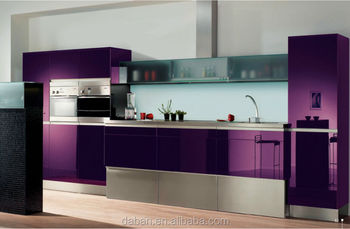 Modern Italian Kitchen Design High Gloss Cabinet