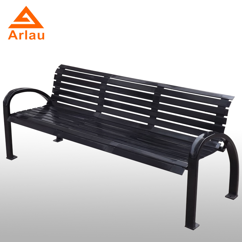 Arlau Steel Chair Outdoor Furniture Red Wrought Iron Outdoor Bench