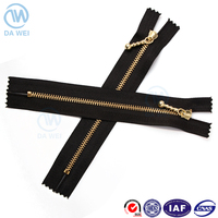 no.5 metal zipper special fashion head shining gold brass teeth metal zipper for jeans