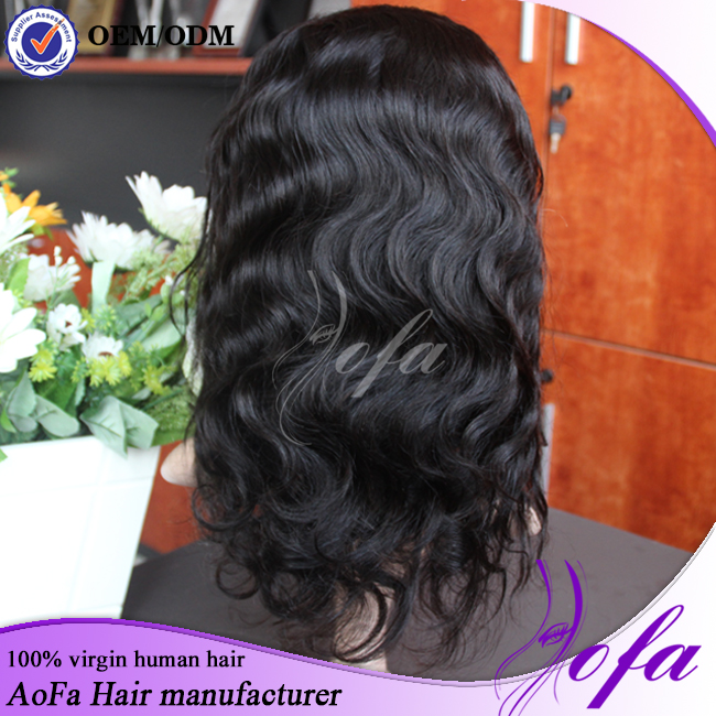 Full Lace Human Hair Wigs Glueless 130% Density Peruvian Virgin Hair Lace Front Wigs Body Wave With Baby Hair Free Shipping