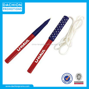 Promotional American Flag Necklace Pen