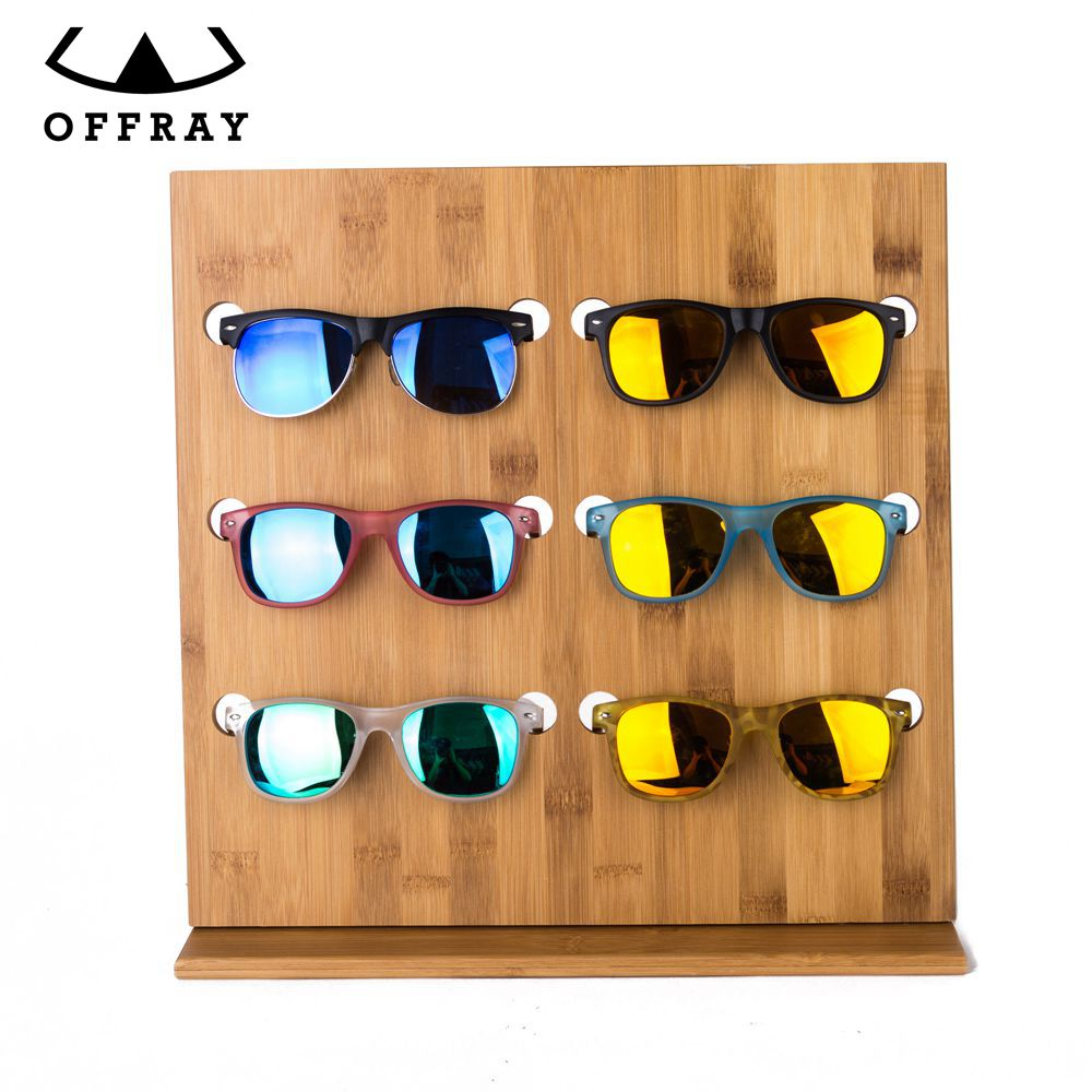 Fashion new arrival custom wooden bamboo display stand for sunglasses