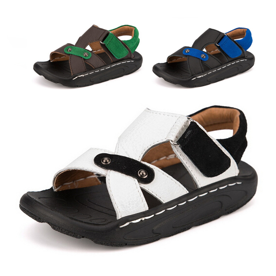 69e74e6a5 Buy Genuine leather kids beach sandals boys sandals children summer sandals  breathable kids shoes boys shoes free shipping in Cheap Price on Alibaba.com