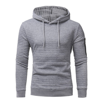 Hot style cheap fashion high quality mens blank side zipper hoody
