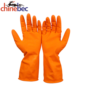 Heat Resistant Extra Long Rubber Gloves / Latex Washing Gloves