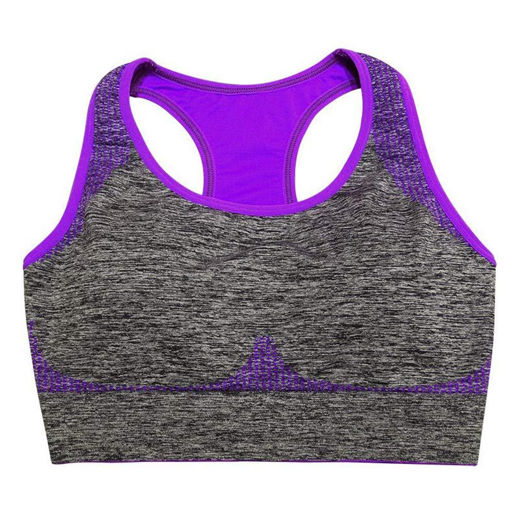34fd540c42 Get Quotations · EBRICKON Women Sports Bra Tops Workout Training Vest  Wireless Running Sport Underwear