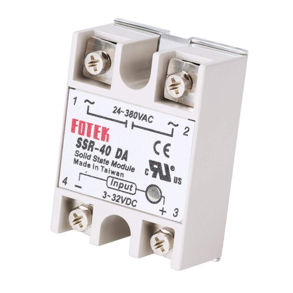Твердотельные реле SSR-40DA постоянного/переменного тока с 40A на самом деле 3-32 В постоянного тока 24 -380V ac SSR реле без защиты SSR-40DA