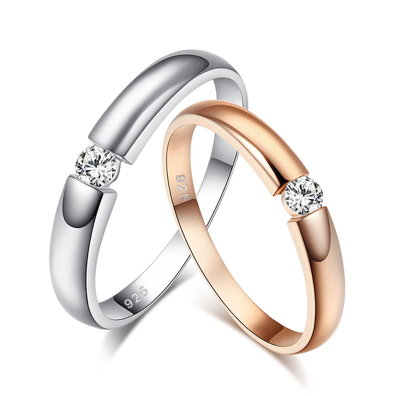 Free Shiping New Italian Style Brand Jewelry 925 Sterling Silver Cubic Zirconia Classic Ring for Women