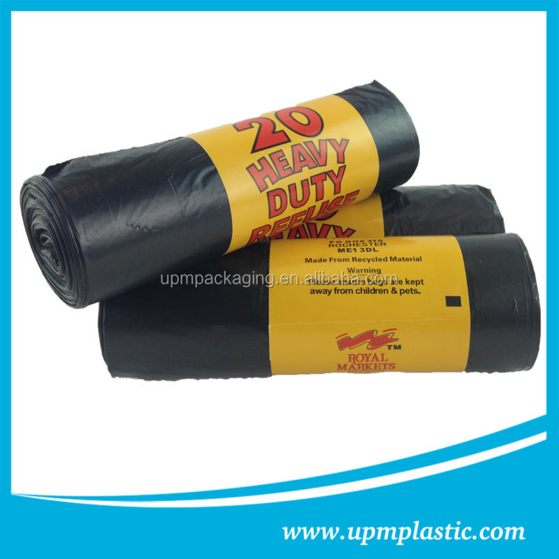 Degradable disposable compostable refuse bag