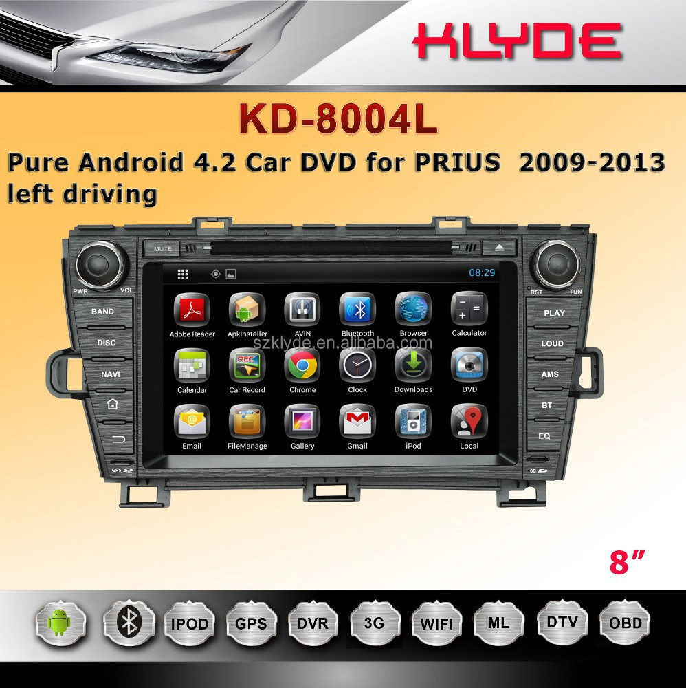 PRIUS 2009-2013 left driving Best Selling Pure Android 4.2 Capacitive multi-touch screen prius radio