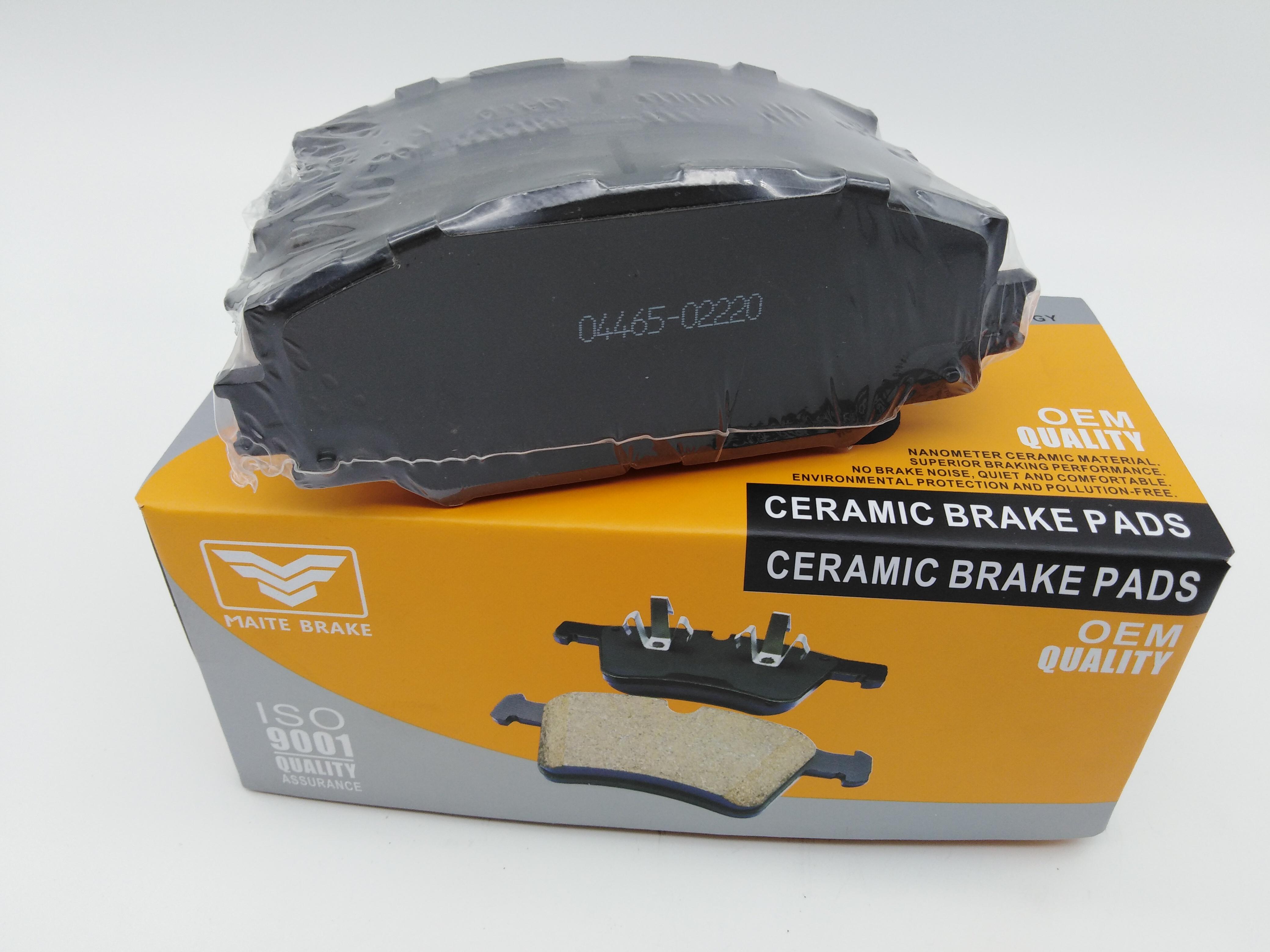 Car brake pads 04465-42160 D1210 break pads ceramic for toyota corolla front