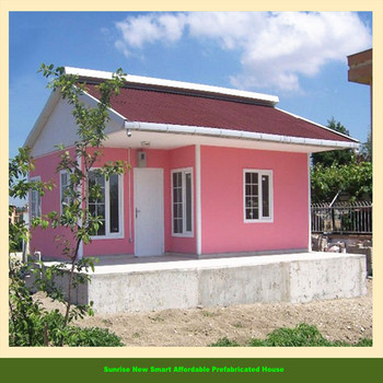 Durable and nice design prefabricated houses in thailand for Small metal homes for sale