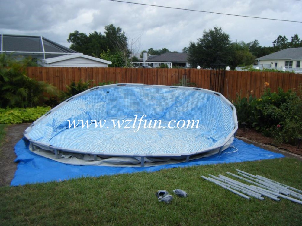Metal frame swimming pool intex metal frame above ground for Buy swimming pool