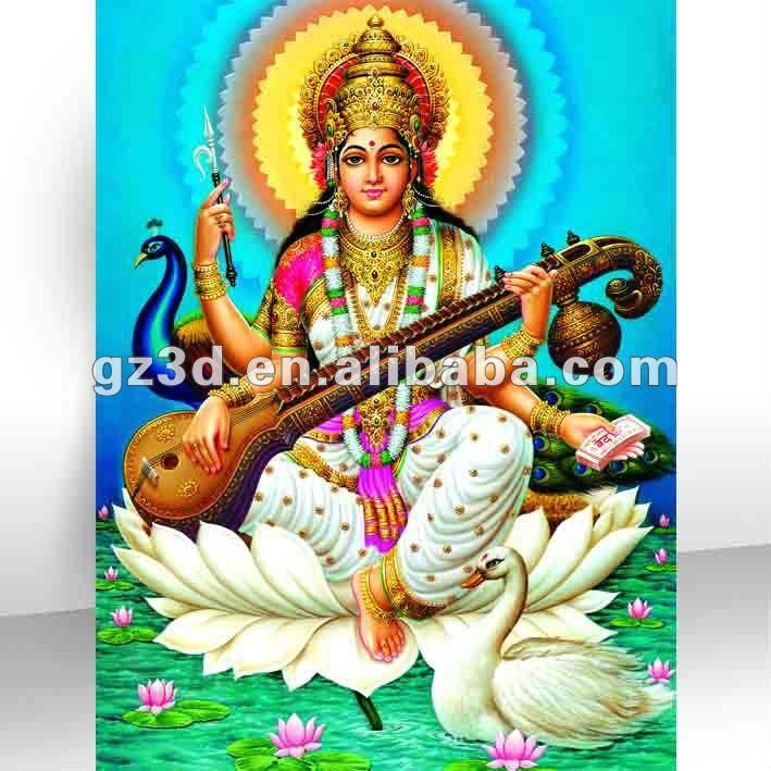 Saraswati God 3d Pictures Indian