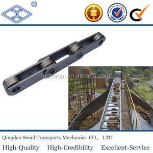 ISO standard long pitch steel industrial extend pin conveyor palm oil chains P101.6F2