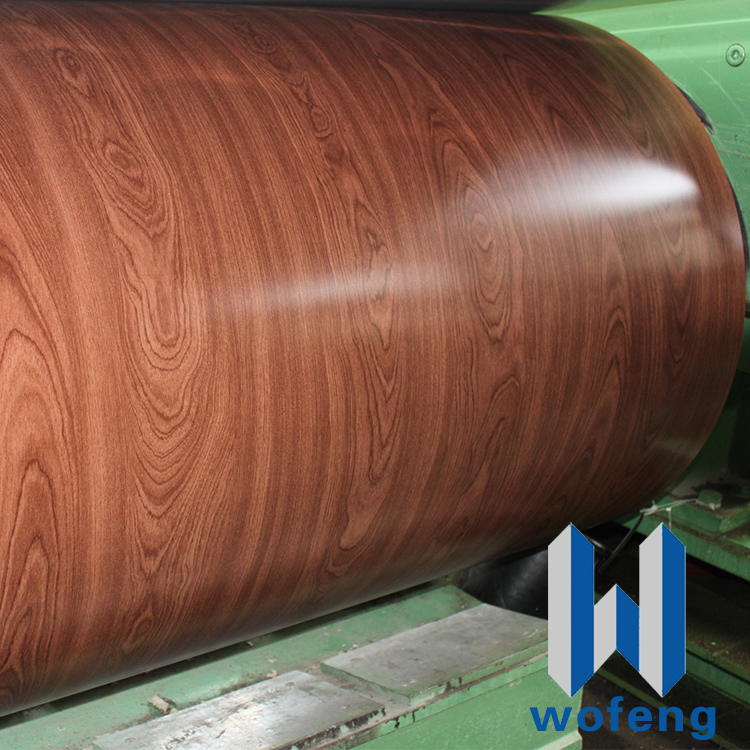 Wood pattern steel external wall panel