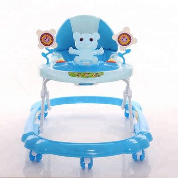 2019 China cheap small baby walker price / 7 wheels plastic baby walking chair / new model baby walker with music