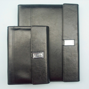 a5 leather organizer notebook with USB flash drive