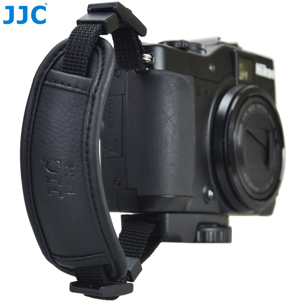 JJC Microfiber PU Leather Soft Camera Hand Grip Strap for Mirrorless Cameras