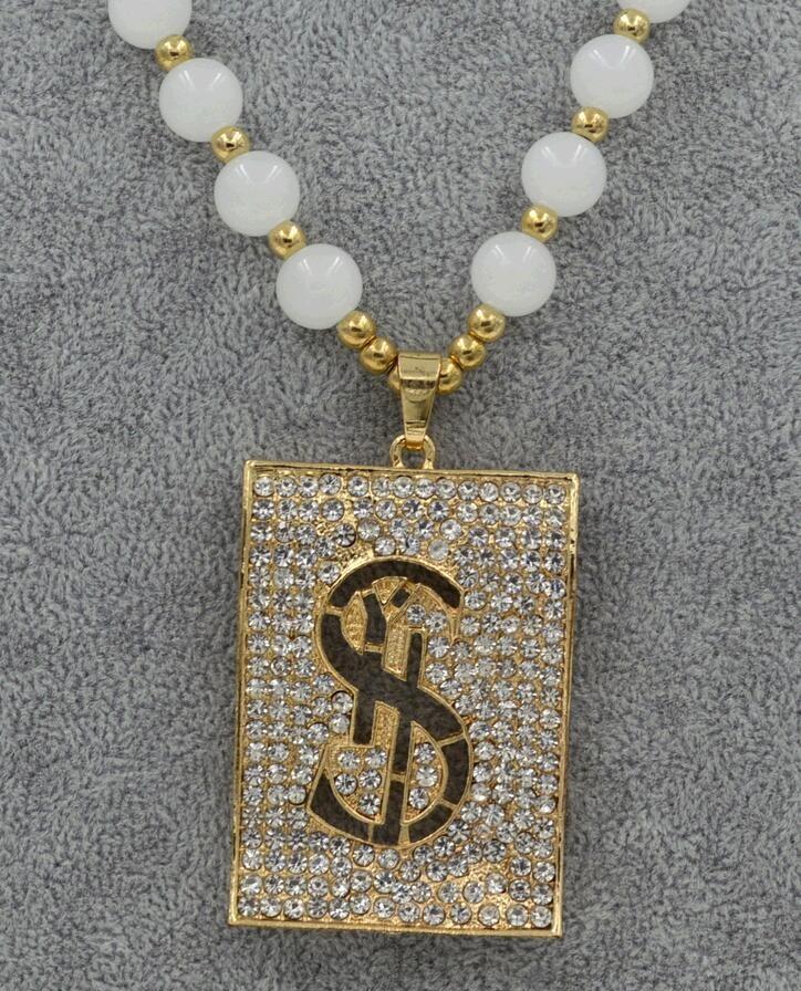 Fashionable Lofty New Dollar Sign Alloy Crystal Female Long Chain ...