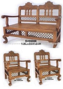 Sofa Set Home Furniture Living Room Furniture Wooden Furniture Sheesham Wood Furniture Mango