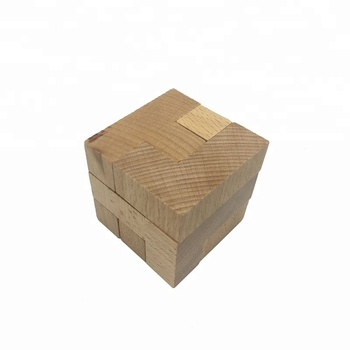 high quality 7 pieces wooden funny magic iq block puzzle cubes