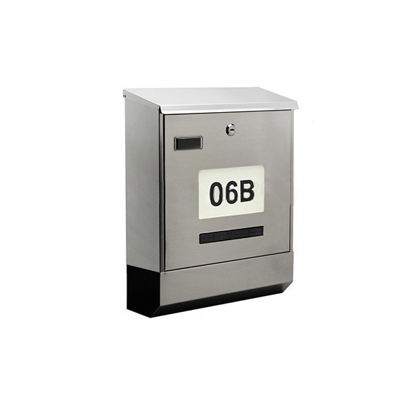 New design stainless steel solar mailbox with number