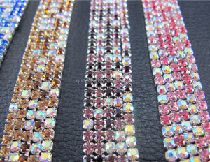 Metal cup strass chain crystal stone with rhinestone for wedding dresses