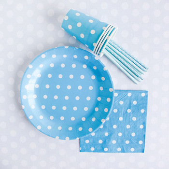 Yiwu Best Selling Party Tableware Paper Plate Cup Paper Drinking Straws Decorative Napkin