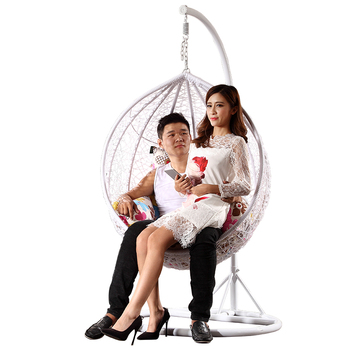 Rattan Wicker Rattan Hanging Ball Bubble Chair With Stand