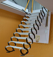 Household indoor carbon steel telescopic attic stair