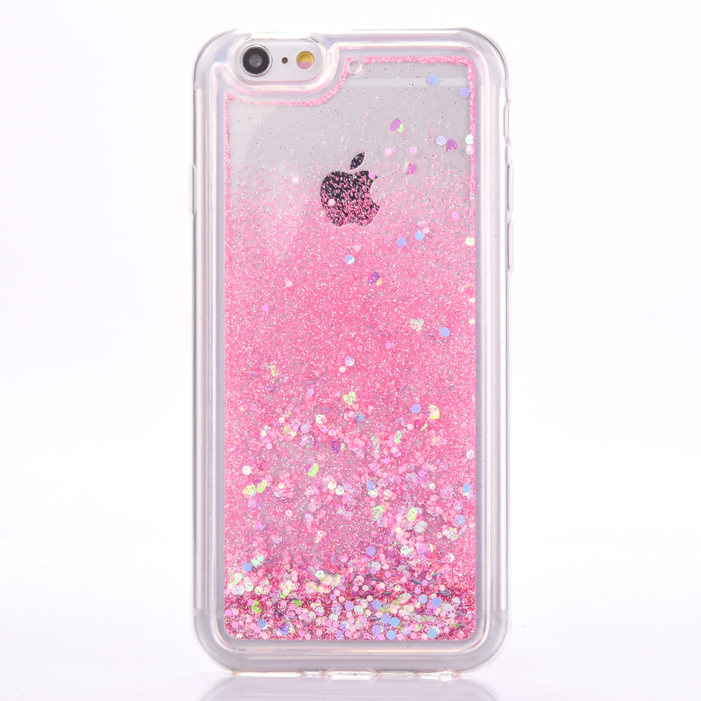 flexible soft TPU Flow Quick sand Colorful Bling Shining Liquid Glitter Cell Phone cover Case for iphone 6 7 8 plus x
