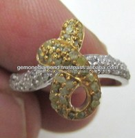Wholesaler Of Uncut black Rough Diamonds Promise Rings