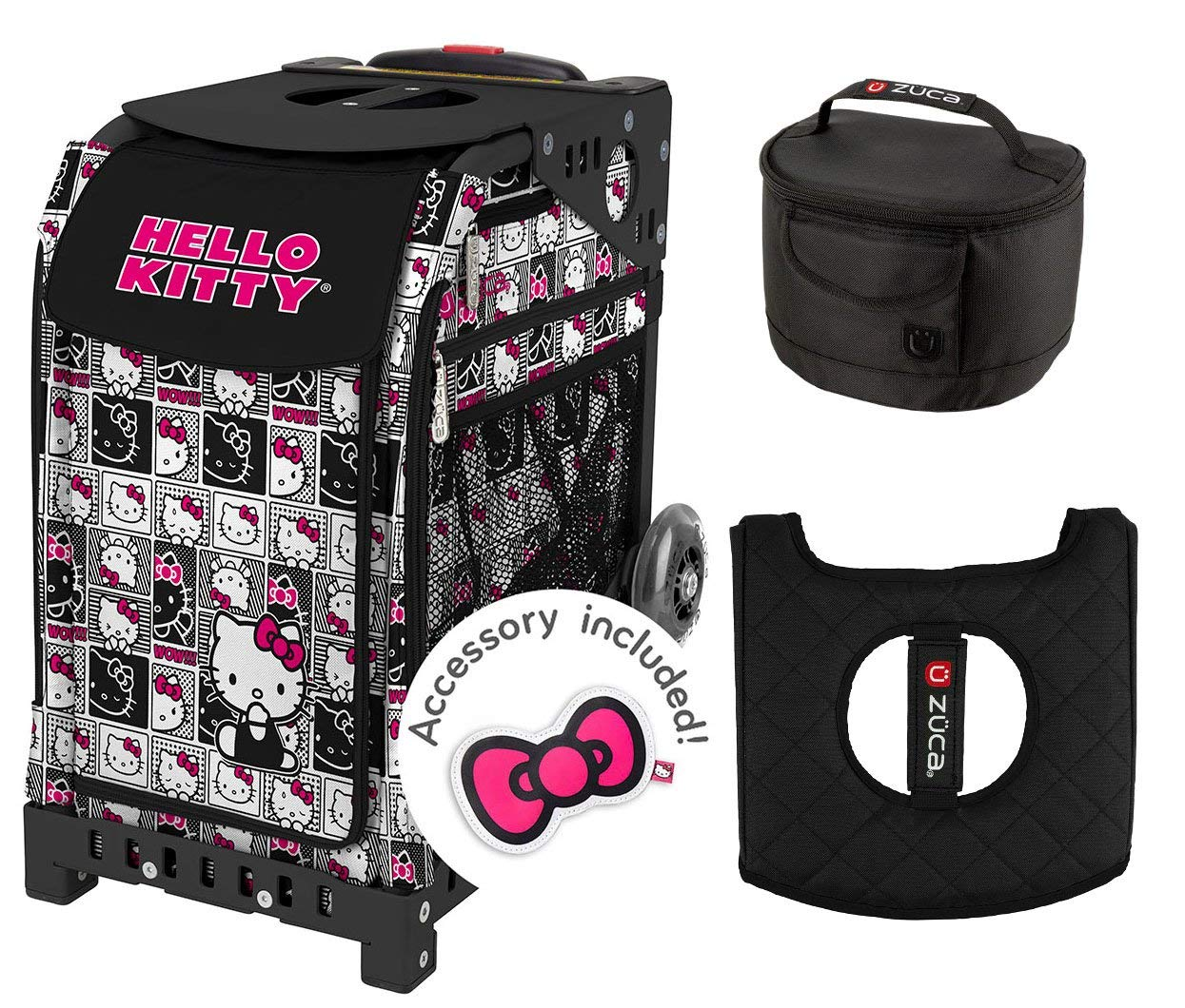 Get Quotations · Zuca Hello Kitty Masterpiece Bag with Black Frame d9e1483d1d6ba