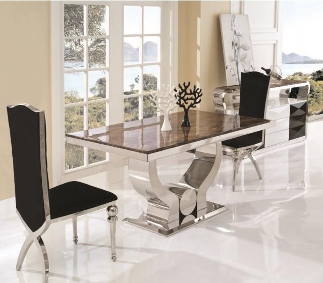 A8035 klassiker esstisch geh rtetem glas esstisch mit for Esstisch klassiker