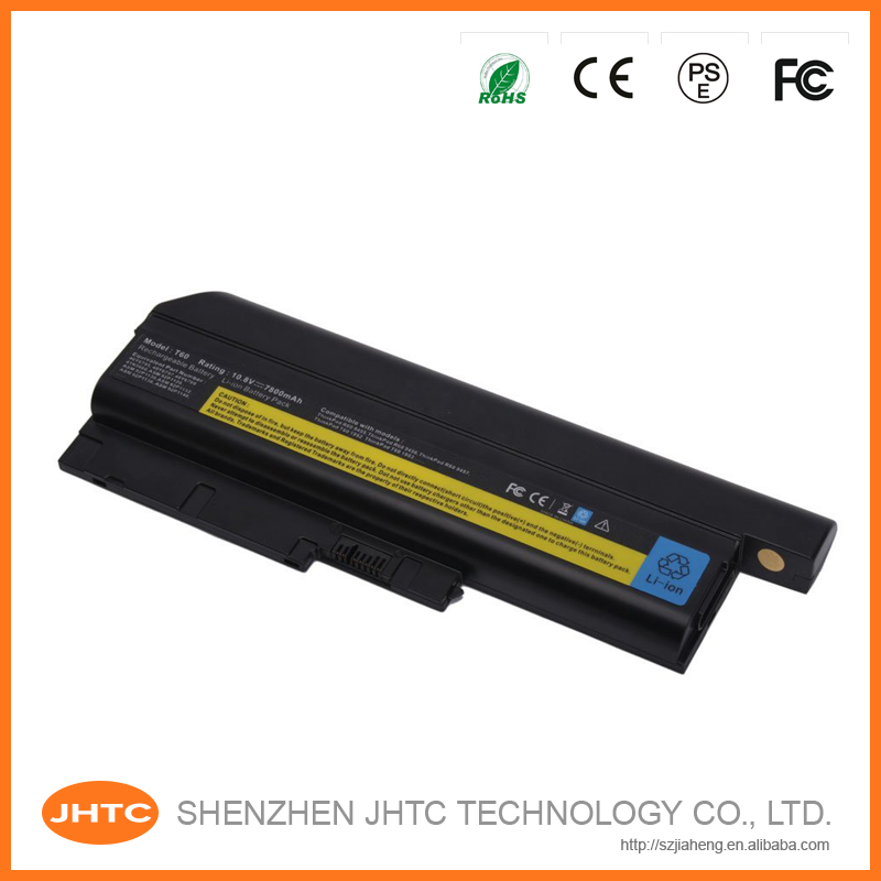 Replacement laptop battery for IBM 40Y6797 40Y6795 41N5666 ASM 92P1132 R60 T60 Z60m Z61e 7800mAh