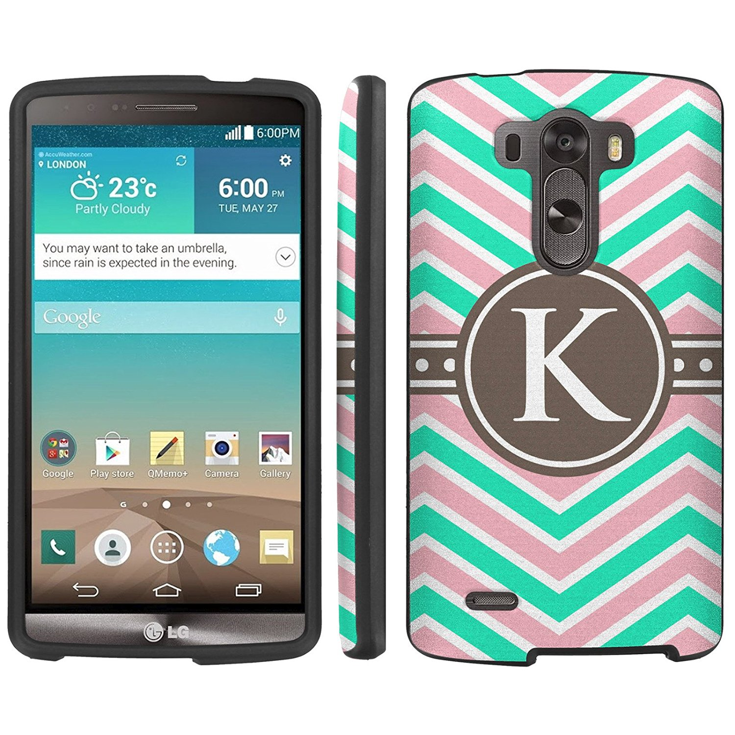 Mobiflare, Slim Guard Armor Design Case, for [LG G3] - Chevron Monogram K