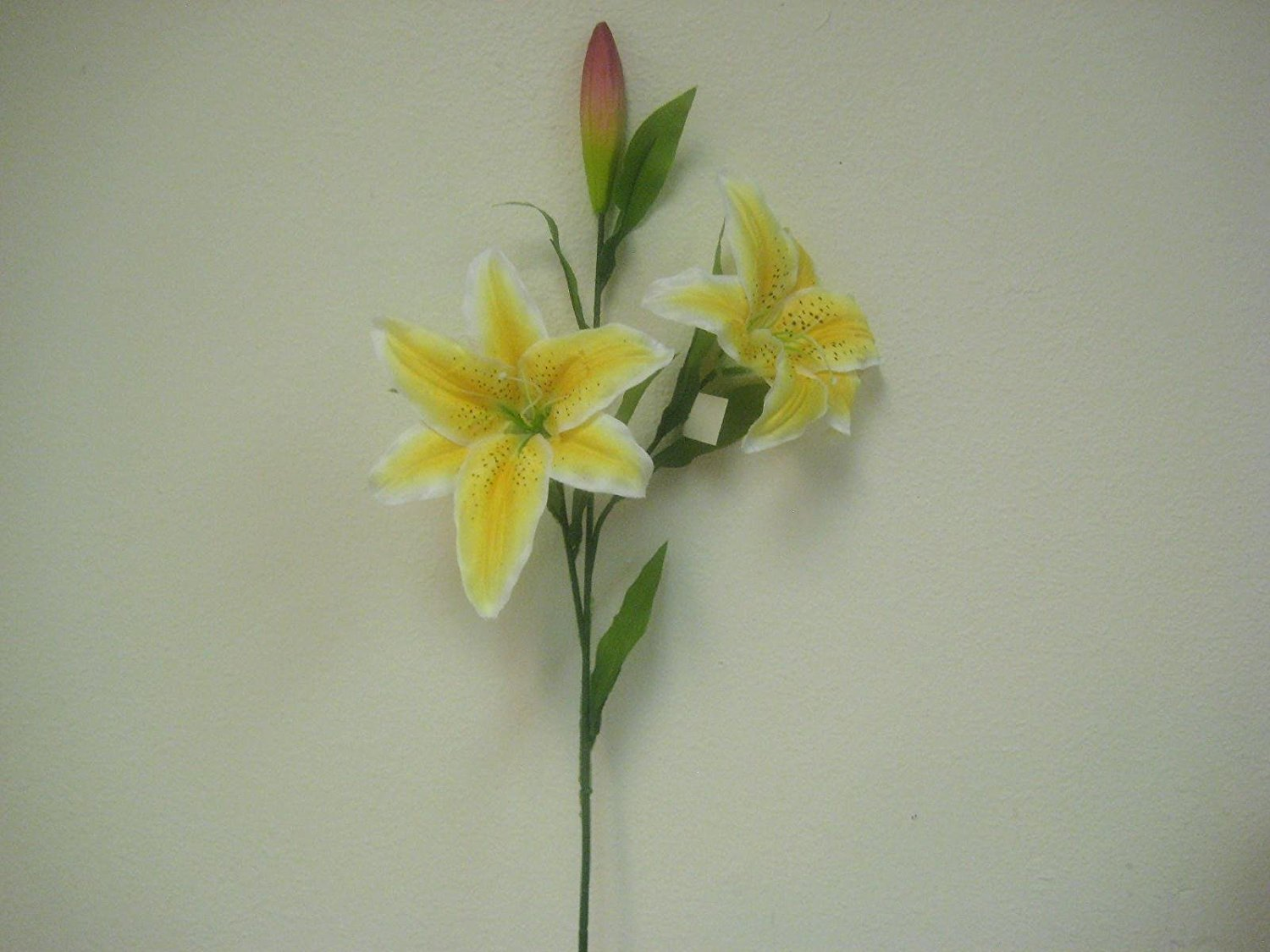 Cheap artificial tiger lily find artificial tiger lily deals on get quotations 2 sprays yellow jumbo tiger lily artificial silk flower 32 stem 2808yl izmirmasajfo