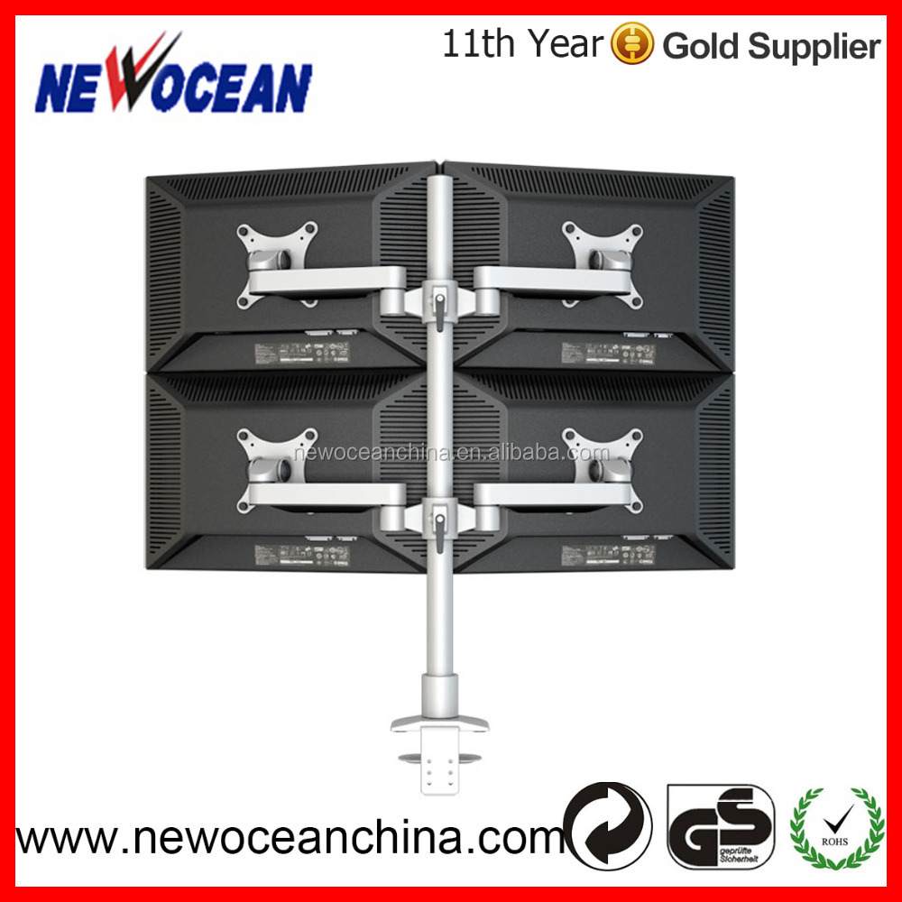 2016 New 4 Monitor Mount Lcd Monitor Wall Mount Four Monitor Stand ...