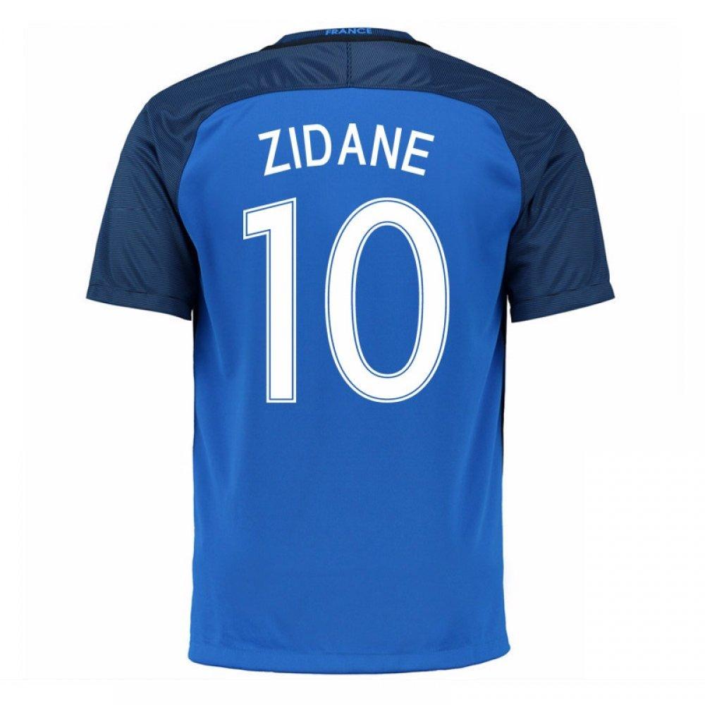 50223d1bd44 Get Quotations · 2016-17 France Home Shirt (Zidane 10) - Kids