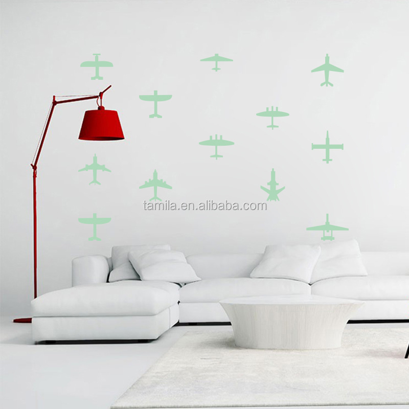 Custom glow in the dark stars wall stickers sheet /green light luminous sticker