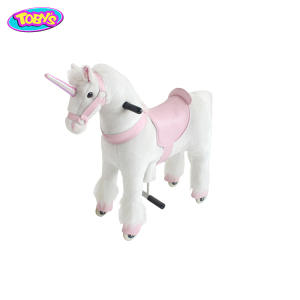 Unicorn Ride On Mechanical Walking Horse Toy Pony Stuffed Animal Ride