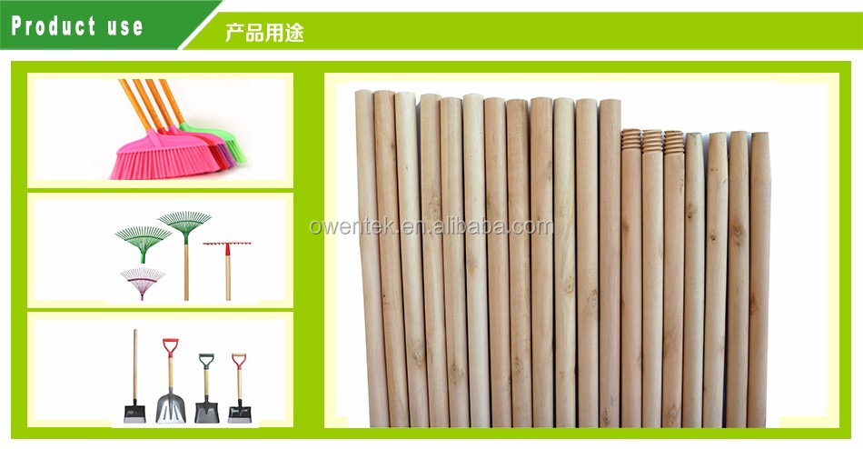 China supplier wholesale broom with colorful broom handle thread plastic pole broom handle manufacturers