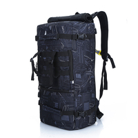 rolltop camouflage military back pack 2019 Latest waterproof outdoor mountaineering hiking bagpack sports double shoulder bags
