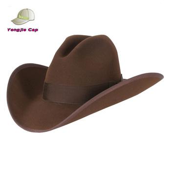 f62fa6446464c Cheap Mens Felt Wool Flat Brim Cowboy Hats For Sale - Buy Cowboy ...